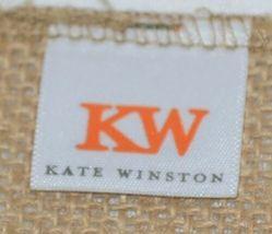 Kate Winston Brand Brown Burlap Monogram Black And White D Garden Flag image 4