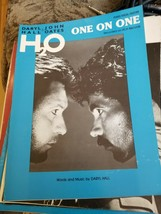 "Hall & Oates H2O Sheet Music ""One on One"" 1982 - Piano/ Vocal / Guitar - $7.91"