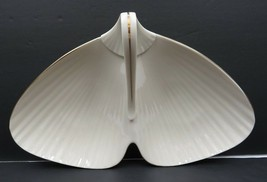Vintage Huge LENOX Fish Mermaid Tail Dish Nappy Server Ecru Gold Trim 14... - $35.00