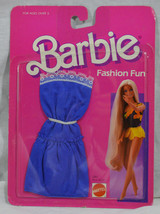 1986 Mattel Barbie Fashion Fun Blue Strapless Dress 2861 - $19.81