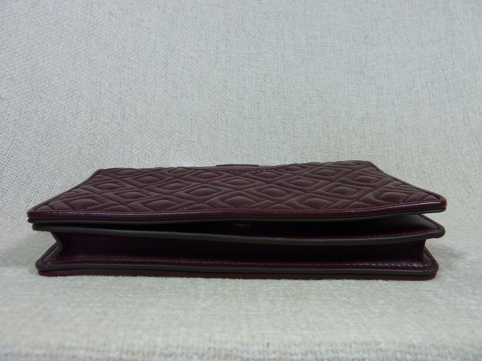 NWT Tory Burch Claret Fleming Wallet Cross Body Bag $328 image 5
