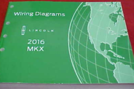 2016 LINCOLN MKX Electrical Wiring Diagram Manual OEM Factory - $24.70