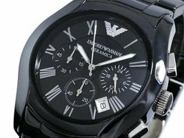 Emporio Armani AR1400 Classic Ceramic Chronograph Men's Analogue Watch - $111.29