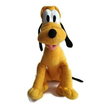 """Disney Pluto Plush 14"""" Toy Sitting Dog Doll Mickey Mouse Great Condition  - $14.84"""