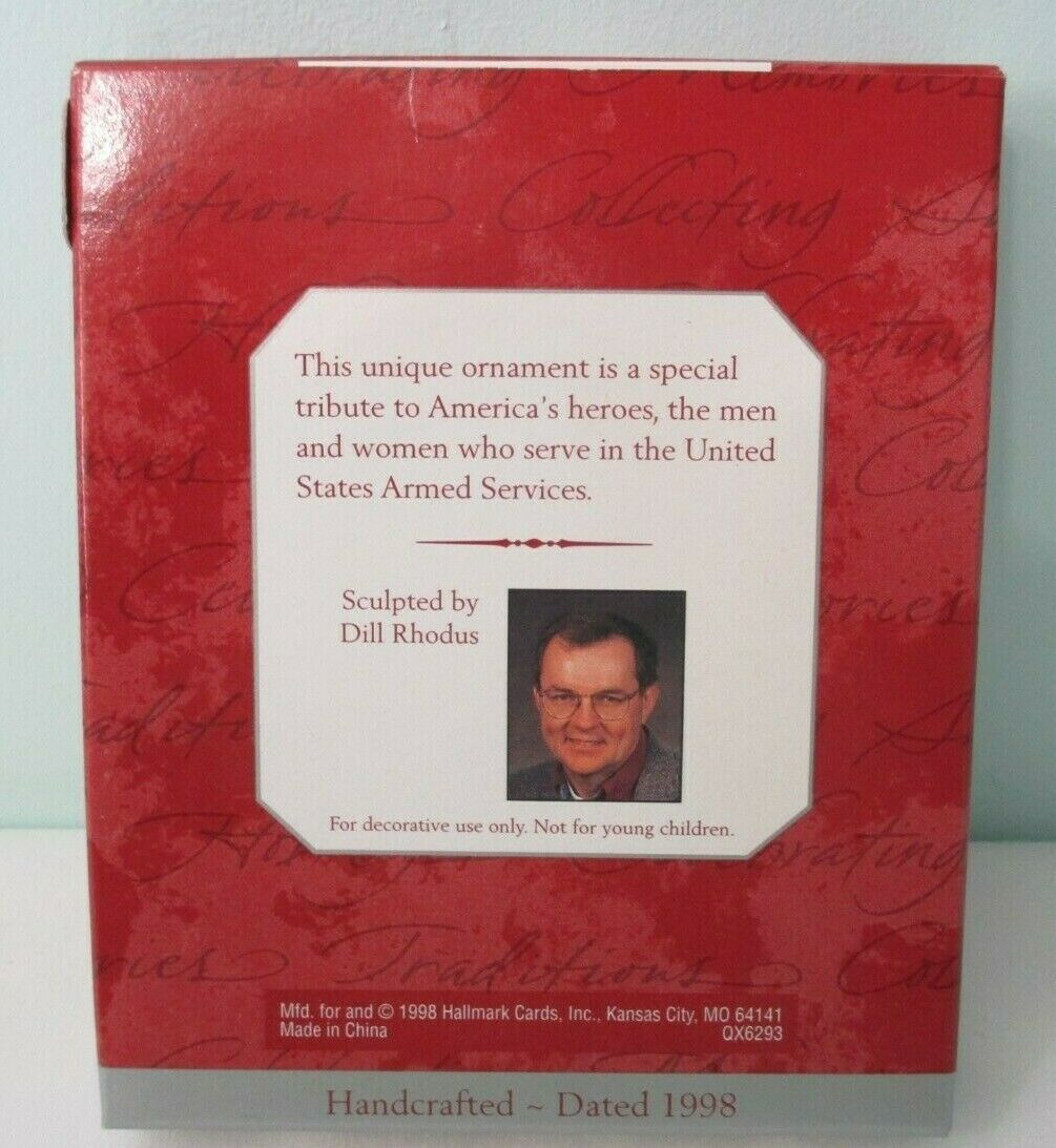 National Armed Services Salute 1998 Hallmark Keepsake Ornament New in Box image 4