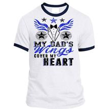 My Dad's Wings Cover My Heart T Shirt, Being A Father T Shirt, Awesome T... - $23.99+