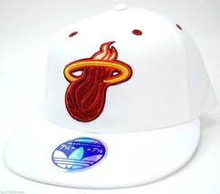 Miami Heat adidas TV39Z NBA Basketball Team Logo Stretch Fit Cap Hat L/XL - $20.85