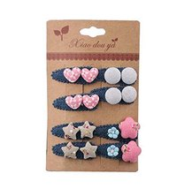 8 pieces Baby Girls Edge Bangs Hair Clips Barrettes Hair Pins, NO.13
