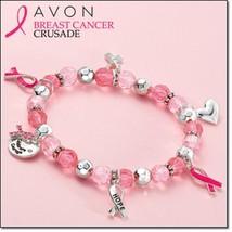 Avon Breast Cancer stretch bracelet - $12.87