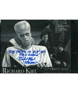 """Richard Kiel signed Twilight Zone pic. Cute Out of this world"""" content !!! - $22.95"""
