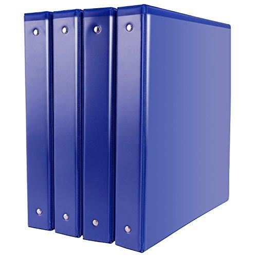 Binders, 1 Inch Binders 3 Ring, Durable View Binder, Blue