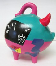 MEXICO AZAMAL YUCATAN PIGGY COIN BANK MONEY COIN CASH HOLDER HAND PAINTE... - $49.93