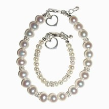 Mom & Me Bracelet Set Pearls with a Heart -Valentine's Day (1-5 Years) - $21.55