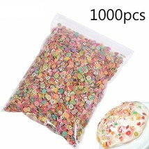 1000 pieces Fruit Slices Floral Shapes 3D Nail Art Decoration and Slime Fillers - $3.78