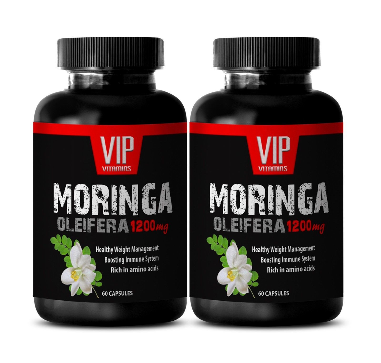 brain and memory - MORINGA OLEIFERA 1200MG - moringa root capsules - 2 Bottles - $22.40
