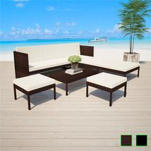 vidaXL Patio Outdoor Rattan Wicker Couch Sofa Garden Furniture Table 2 C... - $313.99+