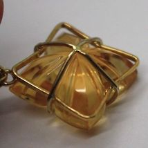 Drop Earrings in 18k Yellow Gold, Diamonds, Quartz citrine, Hearts, Flowers image 4