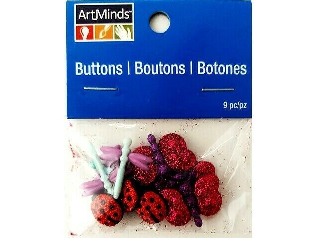Michaels Glittered Buttons, 9 Pieces, #10451787