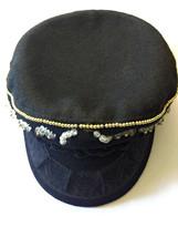 Gorgeous Authentic Greek Fisherman's Cap Black w/Embellishments - $11.29