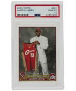 Lebron James Topps #221 Cavaliers Rookie Basketball Card PSA GM 10 295 - $8,729.03