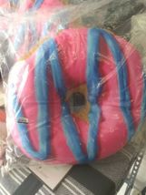 2 Scoops Scented Micro Bead Pillow Plush Blue Pink Classic Sprinkle Donut NWT image 4