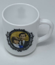 Princess Diana Royal Wedding Mug 1981 Milk Glass Prince Charles Arcopal ... - $17.72