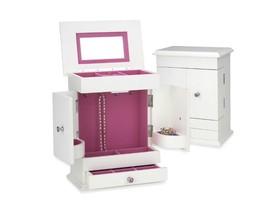 Jewelry Chest Box White Wooden Hot Girls Girl Pink Organizer Armoire Nec... - $160.85