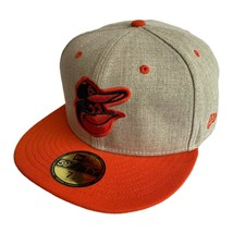 Baltimore Orioles New Era MLB Oatmeal Fitted Baseball Hat Size 7 5/8 - £19.86 GBP
