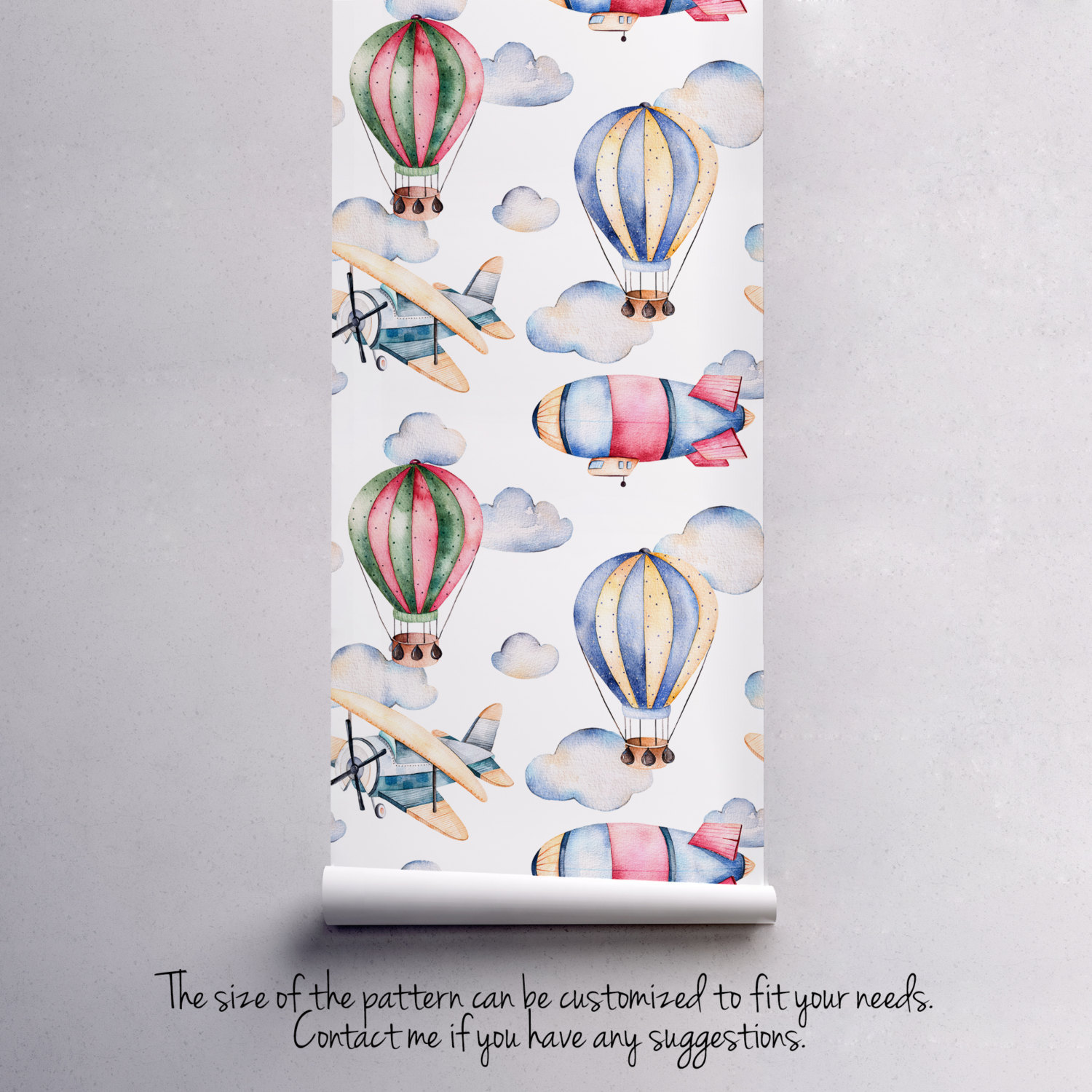 0b0739089b19e Dreamy Watercolor Balloons Removable and 50 similar items