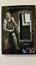 Tony Parker 2015-16 Panini Noir Game Used Jumbo 4 Color Jersey Patch 8/10 - $29.70