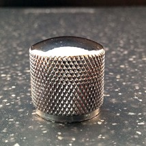 Knurled chrome silver metal 20mm diameter tone or volume knob - $2.67