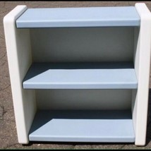 Vintage Little Tikes Blue White Bookcase 2 Shelf Child Size Book Case - $100.00