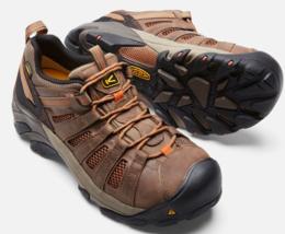 Keen Flint Low Top Sz 11 M (D) EU 44.5 Men's Steel Toe Work Shoes Brown 1007970