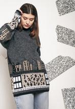 City Lights knit jumper - 90s vintage sweater - $40.28