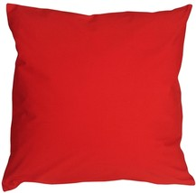 Pillow Decor - Caravan Cotton Red 20x20 Throw Pillow - $29.95