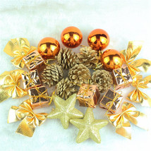 Christmas Ball Xmas Tree Golden 24pcs Bauble Home Party Decor Pine Cone ... - £5.85 GBP