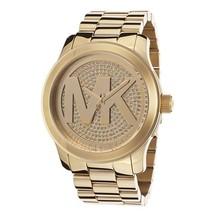 Michael Kors MK5706 Runway Gold Dial Gold Plated Ladies Watch - $256.79