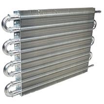 "3/8"" Universal Aluminum Transmission Oil Cooler 15-1/2"" x 10"" x 3/4"" image 2"