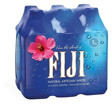 FIJI Natural Artesian Water, 1.0L Bottles Pack of 6
