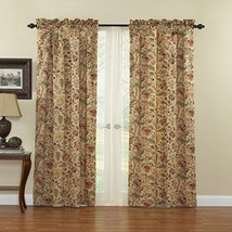 "WAVERLY Imperial Dress Window Curtain, 52"" x 95"", Antique - $53.24"