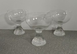 Lenox ICICLE Champagne Tall Sherbet Goblet (s) LOT OF 3 Tempo Line Clear... - $59.35