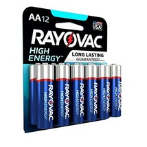 Rayovac AA Batteries, Alkaline Double A Batteries 12 Battery Count - $11.30