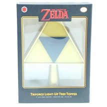 "Nintendo: Legend of Zelda - Triforce 7"" Light-Up Christmas Tree Topper (... - $23.48"