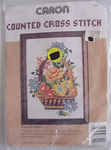 Floral Basket Counted Cross Stitch Caron Kit - $9.95