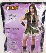 Robin Hood Tween Spirit Girls Juniors Halloween Costume Dress Large 12-14 Deluxe - $29.69