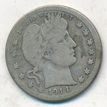 1914-S BARBER SILVER QUARTER-SEMI KEY DATE-NICE CIRCULATED QUARTER-FREE ... - $249.95