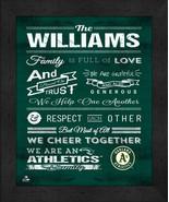 "Oakland A's ""Family Cheer"" 13 x 16 Framed Print - $39.95"