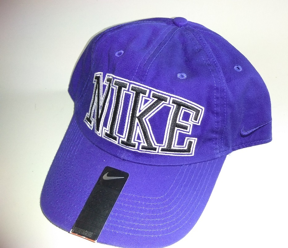 New Nike All Sports Blue White NIKE logo design Hat Cap One Size Adjustable