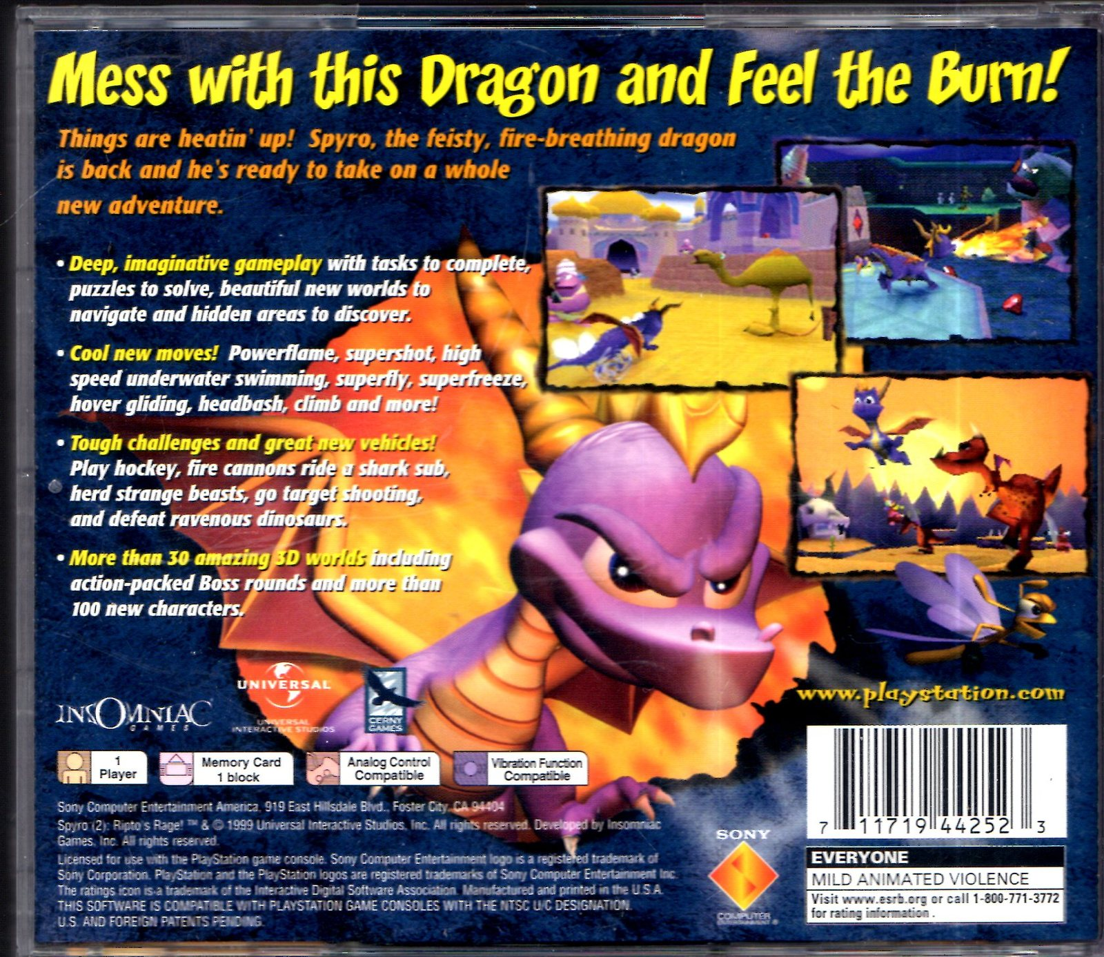 Playstation - SPYRO The Dragon