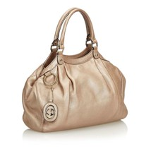 Pre-Loved Gucci Gold Others Leather Sukey Hobo Bag Italy - $672.46